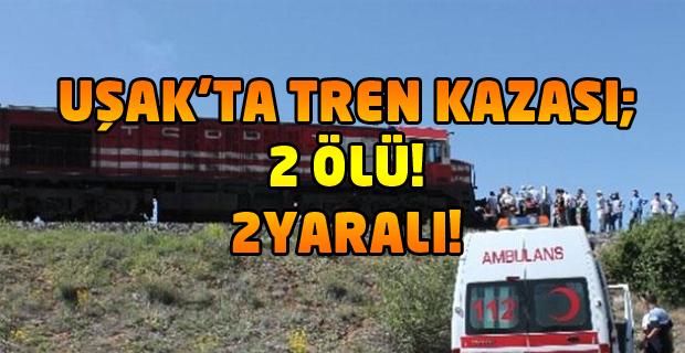Uşak'ın Banaz ilçesinde Corum köyü mevkinde kaza; 2 ölü, 2 yaralı!