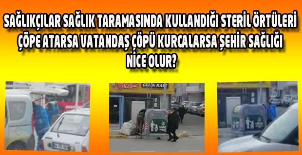 Uşak'ta sağlık çalışanları süreci baltalayacak ne varsa Gazetecilerin gözünün içine soka soka yaptı.