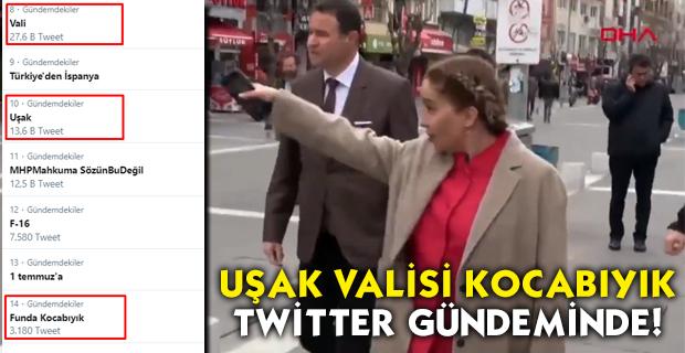 Uşak Valisi, sert çıkışıyla gündeme geldi, Twitter'da TT listesine girdi!