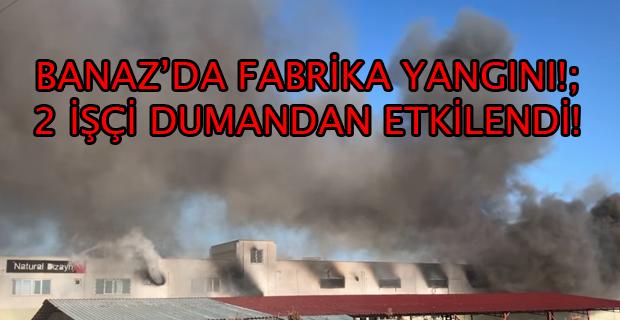 Uşak'ın Banaz İlçesinde Ahşap Süs Eşyaları Üretilen Fabrikada Yangın Çıktı!