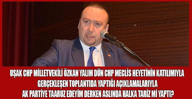 Uşak CHP Milletvekili Özkan Yalım'ın Uşak'ın Durumuyla İlgili İronik Açıklamalar Yapması Kulisden Edinilen Bilgilere Göre Meclisden Gelen Heyetin ve Halkın Tepkisini Çekti!