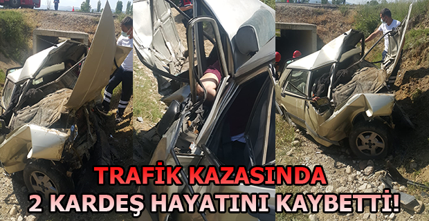 Sulama Kanalına Düşen Araç'ta İki Kardeş Hayatını Kaybetti!