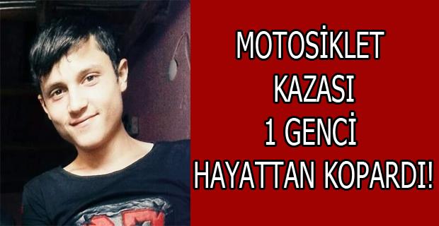 Uşak'ta Motosiklet Kazası; 1 Ölü, 1 Yaralı!