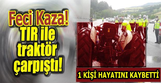 Uşak'ta Tırın Çarptığı Traktördeki Kadın Hayatını Kaybetti!