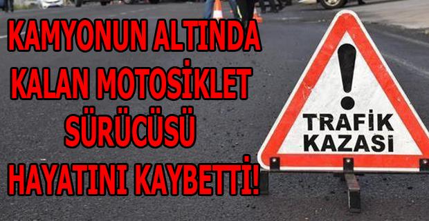 Sivaslı'da Kamyonun Altında Kalan Motosiklet Sürücüsü Hayatını Kaybetti!