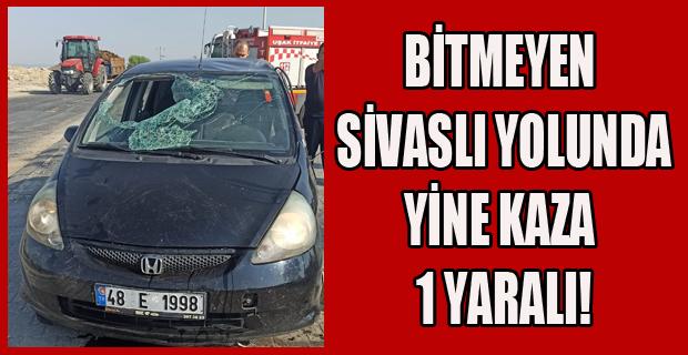 Uşak'ta Trafik Kazası; 1 yaralı!