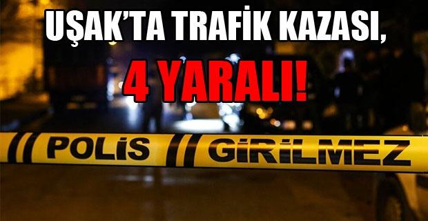 Bozkuş Köyü Kavşağında 2 Araç Çarpıştı! 4 Yaralı!