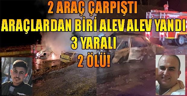 Uşak'ta Trafik Kazası, 2 Araç Çarpıştı;2 Ölü, 3 Yaralı!
