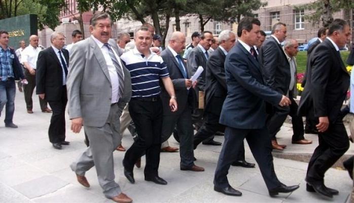 Adliyesi Kapanan Ulubey'in Belediye Başkanı ve Muhtarlar Protesto'ya Katıldı!