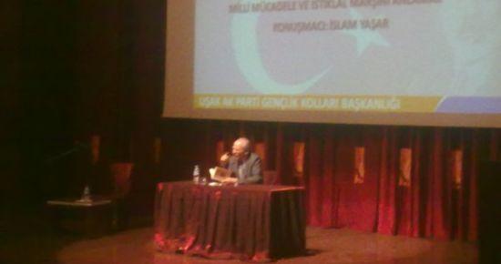 Ak Parti Gençlik Kolları'nın Düzenlediği Konferansta Mehmet Akif Anlatıldı