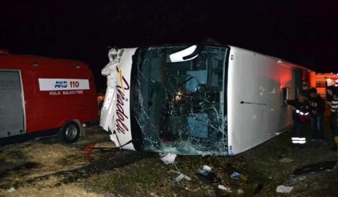Anadolu Ulaşım'a Ait Yolcu Otobüsü Devrildi: 25 Yaralı!
