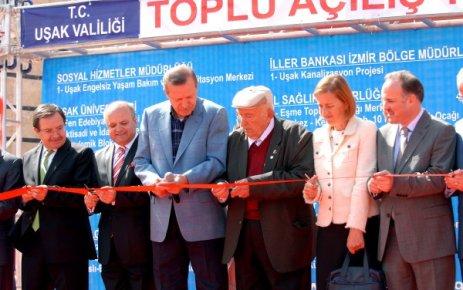 Başbakan Uşak ta 28 Tesis Açılışı Gerçekleştirdi.