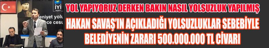 Götürdüğünüz paraları getirin Uşak Belediyesine teslim edin. İyi Parti'li Hakan Savaş, AKP'li eski başkan ve ekibine böyle seslendi