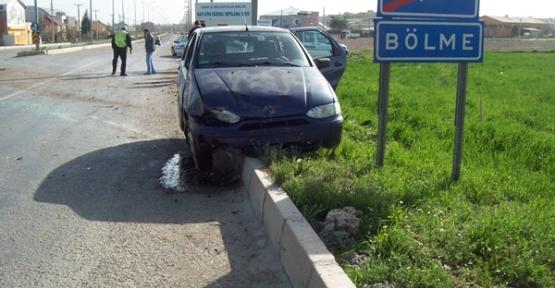 Bölme Yolundaki Kazada 2 Kişi Yaralandı