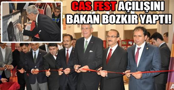 CAS FEST'in Açılış Kurdelasını AB Bakanı Bozkır Kesti!