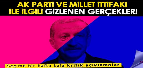 Gizlenen gerçek: AK Parti ve Millet ittifakı hangi ortak amaçta buluştu?