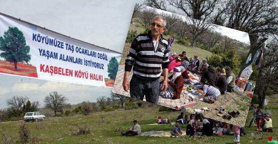 Kaşbelen Köylüsünden Şenlikli Protesto!