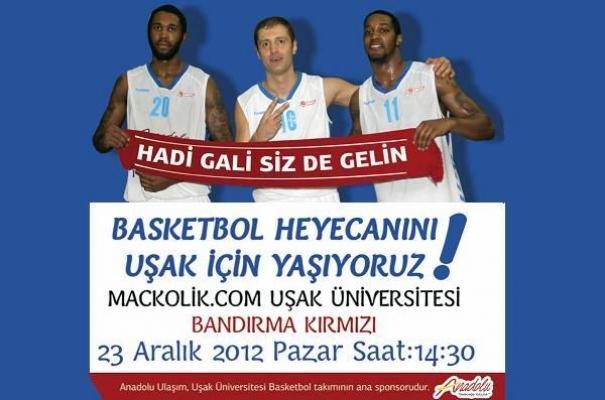 Mackolik.Com Uşak Basketbolcularından Uşaklılara Çağrı: Hadi Gali Siz de Gelin!