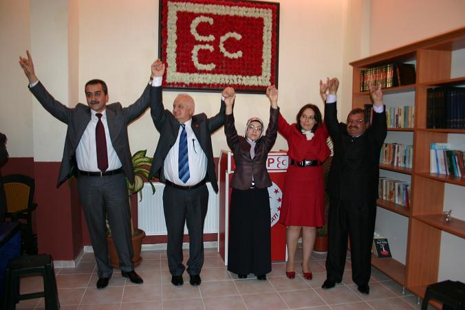 MHP Uşak Teşkilatı Milletvekili Aday Adayları Beraber Basın Açıklamasında Bulundu..