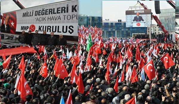 MHP Uşak Teşkilatı Bursa'daki Kuruluş Mitingine Katıldı