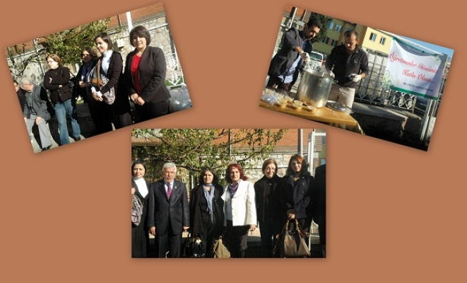 MHP Uşak Kadın Kolları Uşak Lisesi Önünde Aşure Dağıttı!