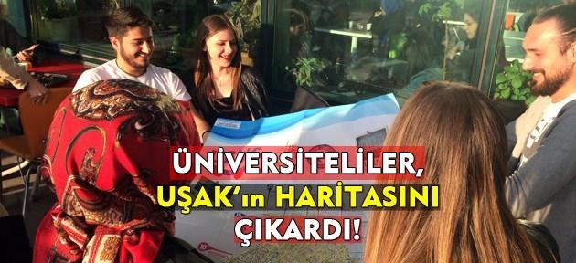 Öğrenciler Uşak'ın haritasını çıkardı!