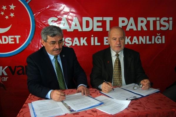 Saadet Partisi Uşak Teşkilatı 2012 Yılını Değerlendirdi