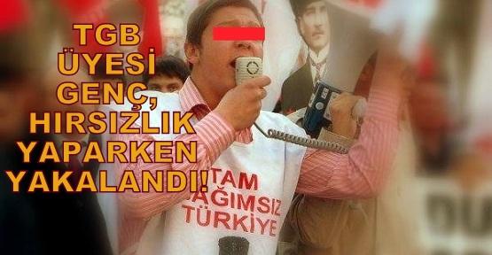 Uşak'ta Gezi Eylemlerinin Başrol Oyuncusu TGB'li Genç, Hırsızlıktan Yakalandı!