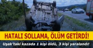 Uşak#039;ta kaza! 1 ölü, 3 yaralı!