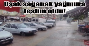Uşak'ta yağan sağanak yağmur hayatı olumsuz etkiledi!