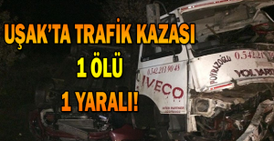 Uşak#039;ta trafik kazası, TIR#039;la...
