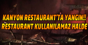 Kanyon Restaurant#39;ta çıkan yangında...