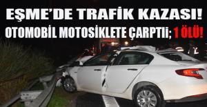 Uşak#39;ta trafik kazası. Motosiklet...