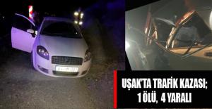 Uşak#039;ta Trafik Kazası; 1Ölü,...