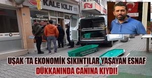 İKİ ÇOCUK BABASI ESNAF İŞYERİNDE...