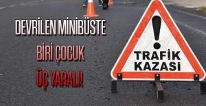 Uşak-İzmir Karayolunda Refüje Devrilen...