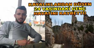 Ulubey'de kayalıklardan düşen genç hayatını kaybetti