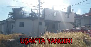 Uşak'ın Ulucak Köyünde, Bir Evde Çıkan Yangında Maddi Hasar Oluştu!