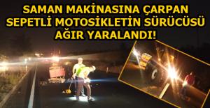 Traktöre arkadan çarpan motosiklet sürücüsü ağır yaralandı!