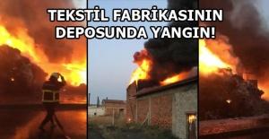 Tekstil Fabrikasında Yangın!