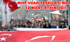 MHP Uşak Teşkilatı, Yürüyüş Yapıp İstiklal Marşı Okudu!