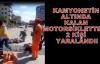 Motorsiklet Kamyonetin Altında Kaldı! 2 Yaralı!