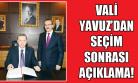 Vali Seddar Yavuz'un Cumhurbaşkanı Seçimi Mesajı!