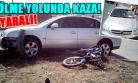 Yola Kontrolsüz Çıkan Mobilete Otomobil Çarptı! 2 Yaralı!