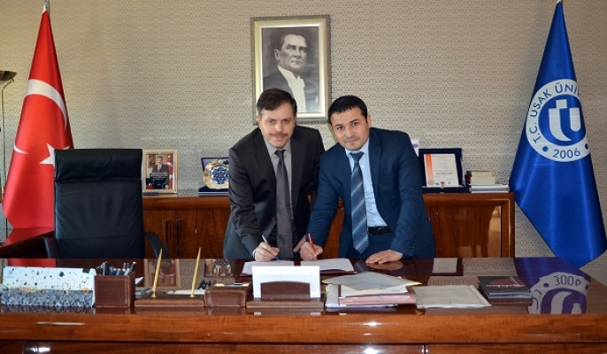 """Uşak Üniversitesi Ve Miras Arasında """"Akademik İşbirliği Protokolü"""" İmzalandı"""