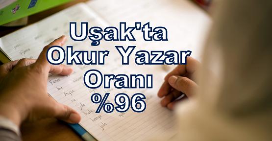Uşak'ın Okuma Yazma Bilme Oranı % 96,1
