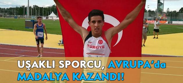 Uşaklı sporcu, Avrupa'da, Türkiye'yi temsilen altın madalya kazandı!