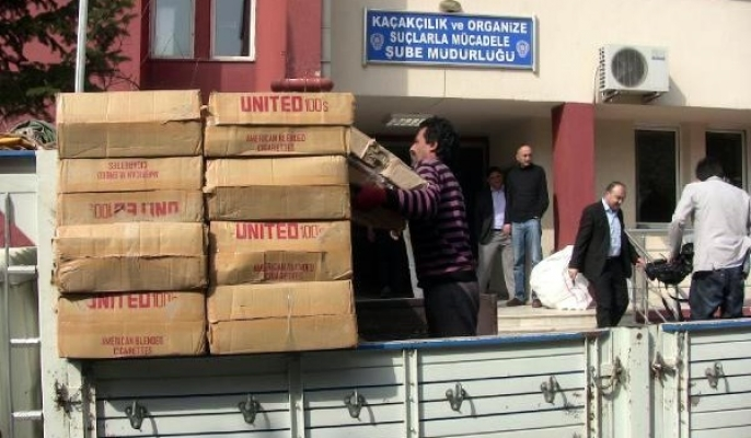 Uşak'ta 14 Bin 850 Karton Kaçak Sigara Yakalandı!