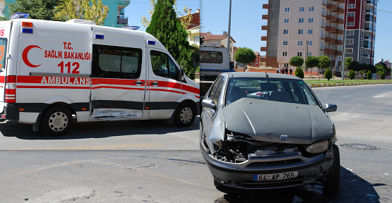 Vakaya Giden Ambulans Kaza Yaptı! 1 Yaralı!